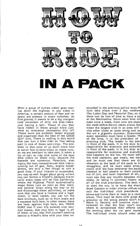 Ride in a Pack
