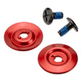 Helmet Hardware Kit - Black Screw / Red Baseplate