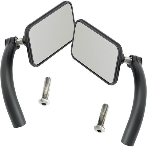 Utility Mirror Rectangle Perch Mount - Black