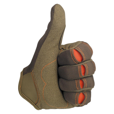 Moto Gloves - Brown/Orange