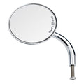 Utility Mirror Round Short Arm CE Perch Mount - Chrome