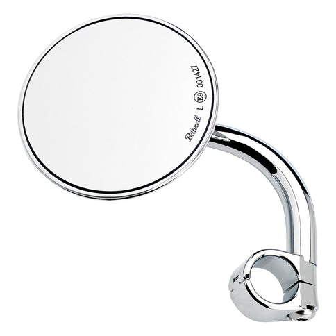 "Utility Mirror CE Short Arm Round Clamp-on 1"" - Chrome"