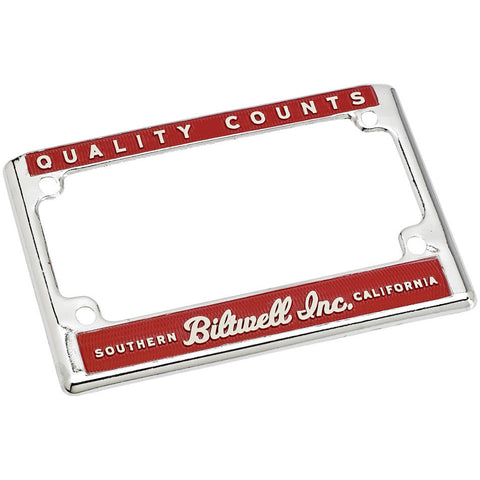 CLOSEOUT License Frame - Quality Counts Red/Cream