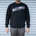 Cracked Crew Neck - Black