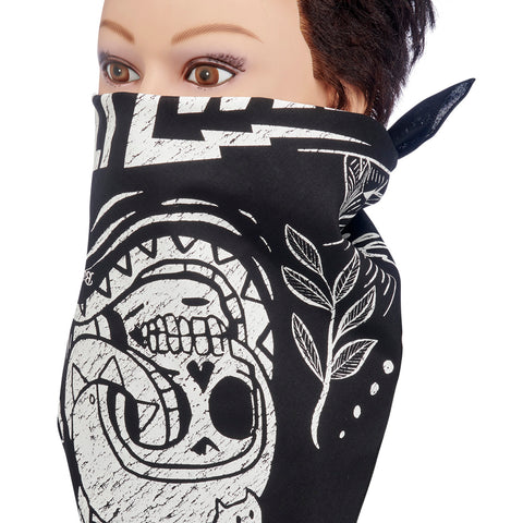 Mandana - Cobra Skull Black/White