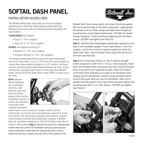 M8 Softail Dash Panel - Chrome