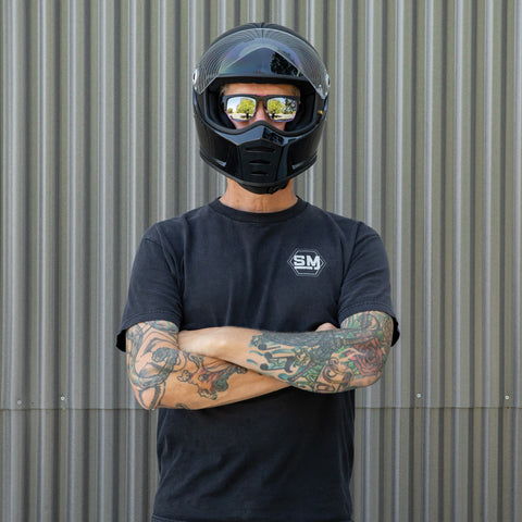 Lane Splitter Helmet - Gloss Black