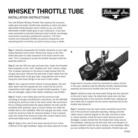 "Whiskey Throttle Tube 1"" - Silver"