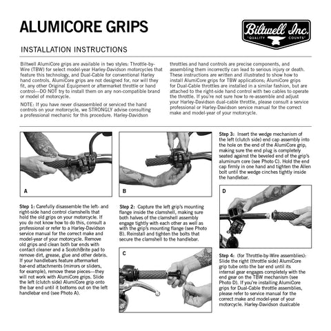 AlumiCore Grip Set TBW - Chrome
