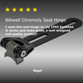 Chromoly Seat Hinge - Black