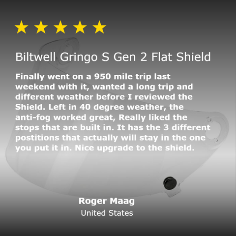 Gringo S Gen 2 Flat Shield - Clear