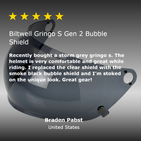 Gringo S Gen 2 Bubble Shield - Smoke