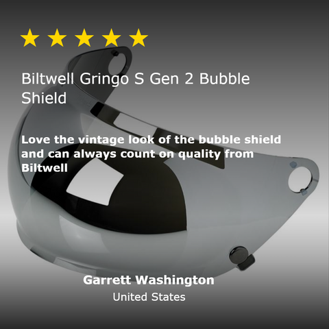 Gringo S Gen 2 Bubble Shield - Chrome Mirror