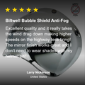 Bubble Shield Anti-Fog - Chrome Mirror