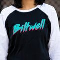 Women's 1985 Raglan - Black/White