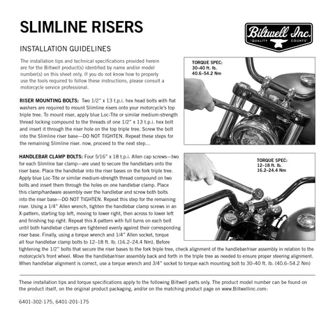 Slimline Risers - Polished