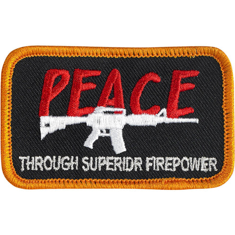 CLOSEOUT Peace Patch - Black/Red/White/Orange