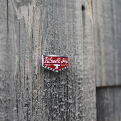 Enamel Pin Shield - Red/White
