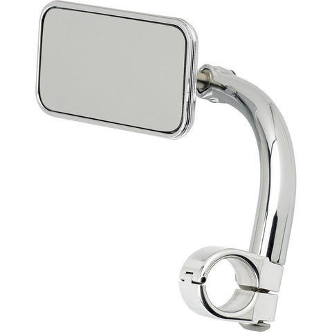 "Utility Mirror Rectangle Clamp-on 1"" - Chrome"