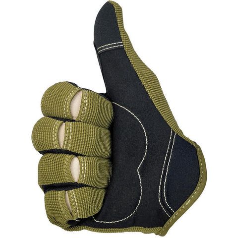 Moto Gloves - Olive/Black