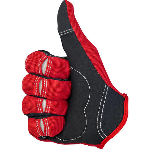 Moto Gloves - Red/Black/White