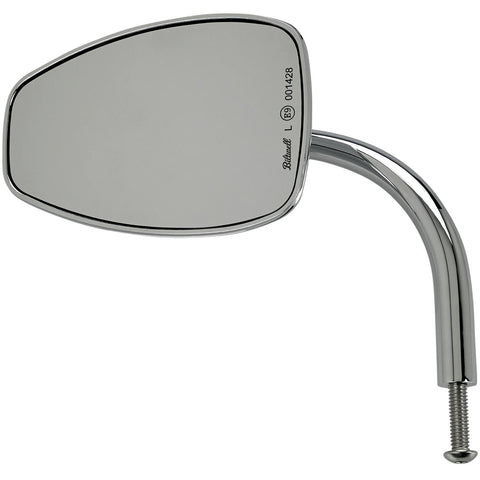Utility Mirror Teardrop CE Perch Mount - Chrome