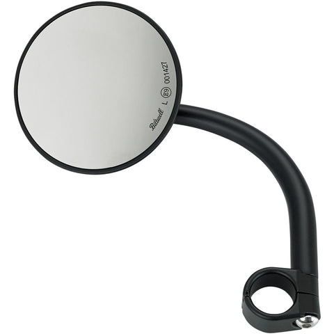 Utility Mirror Round CE Clamp-on - Black