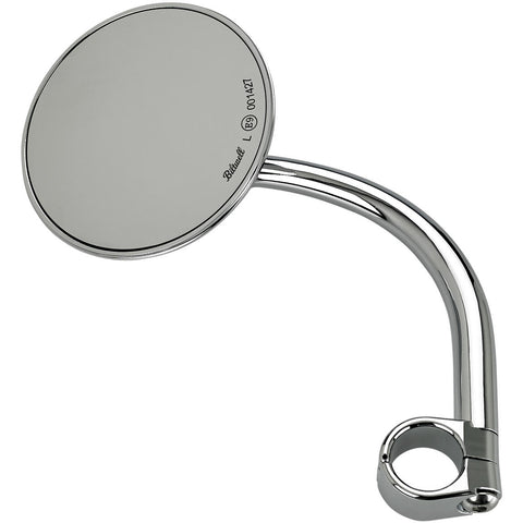 "Utility Mirror Round CE Clamp-on 1"" - Chrome"