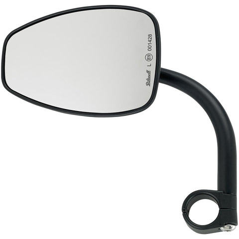 Utility Mirror Teardrop CE Clamp-on - Black