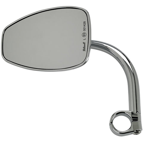 "Utility Mirror Teardrop CE Clamp-on 1"" - Chrome"