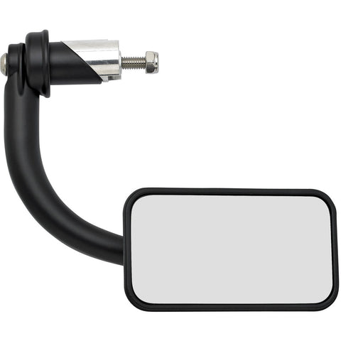 Utility Mirror Rectangle Bar End - Black