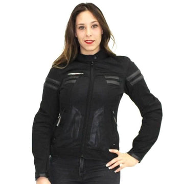 AGV Sports Celle Lady Biker Textile Jacket - DublinLeather