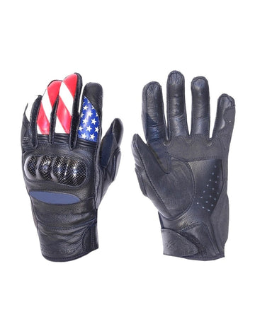 AGV Sports Krono Short Summer Leather Gloves - USA - DublinLeather