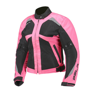 Bela Airy Ladies Motorcycle Summer Textile Jacket - Pink/Black