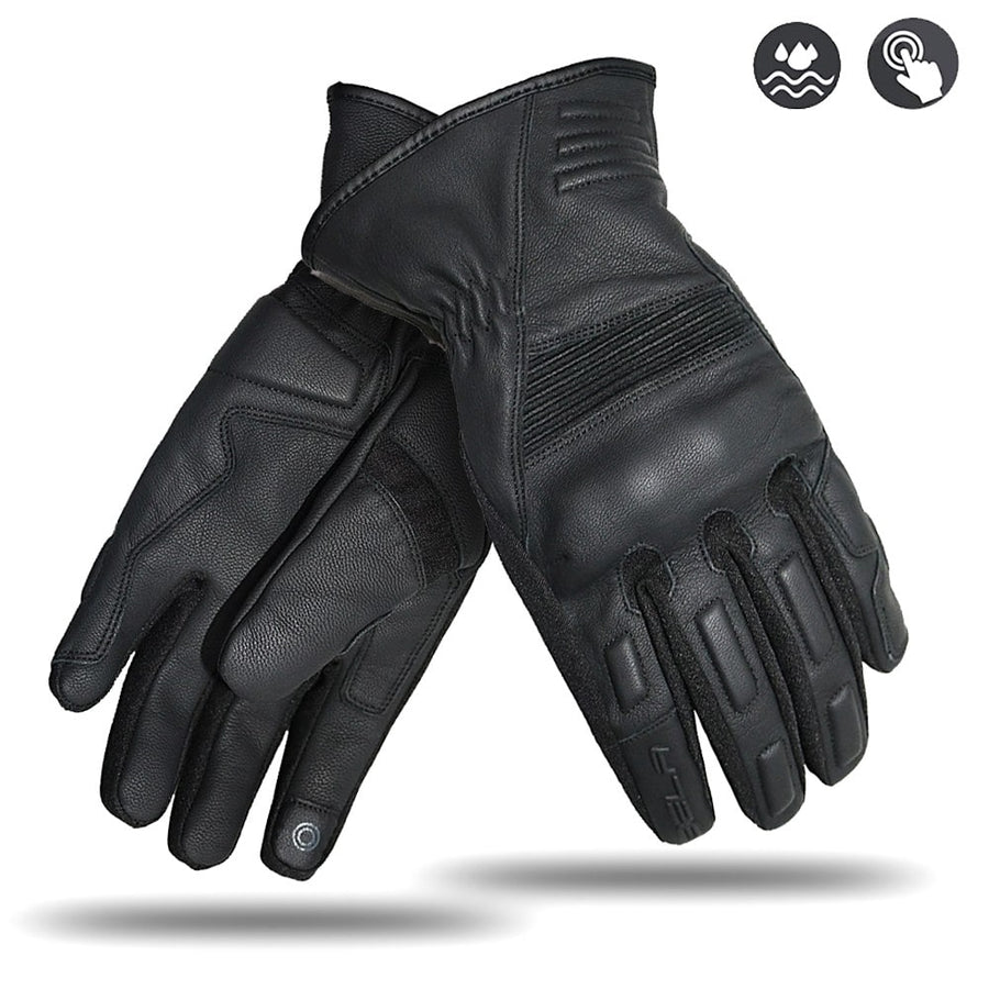 Bela City Aice Motorcycle Winter Waterproof Leather Gloves - Touch Screen - DublinLeather