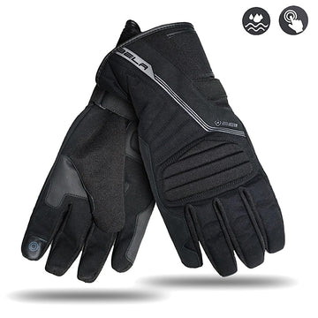 Bela Climate Mens Motorcycle Winter Waterproof Multi Layer Textile Gloves - Touch Screen Compatible Sale Online Dublin Leather Ireland UK Germany Europe