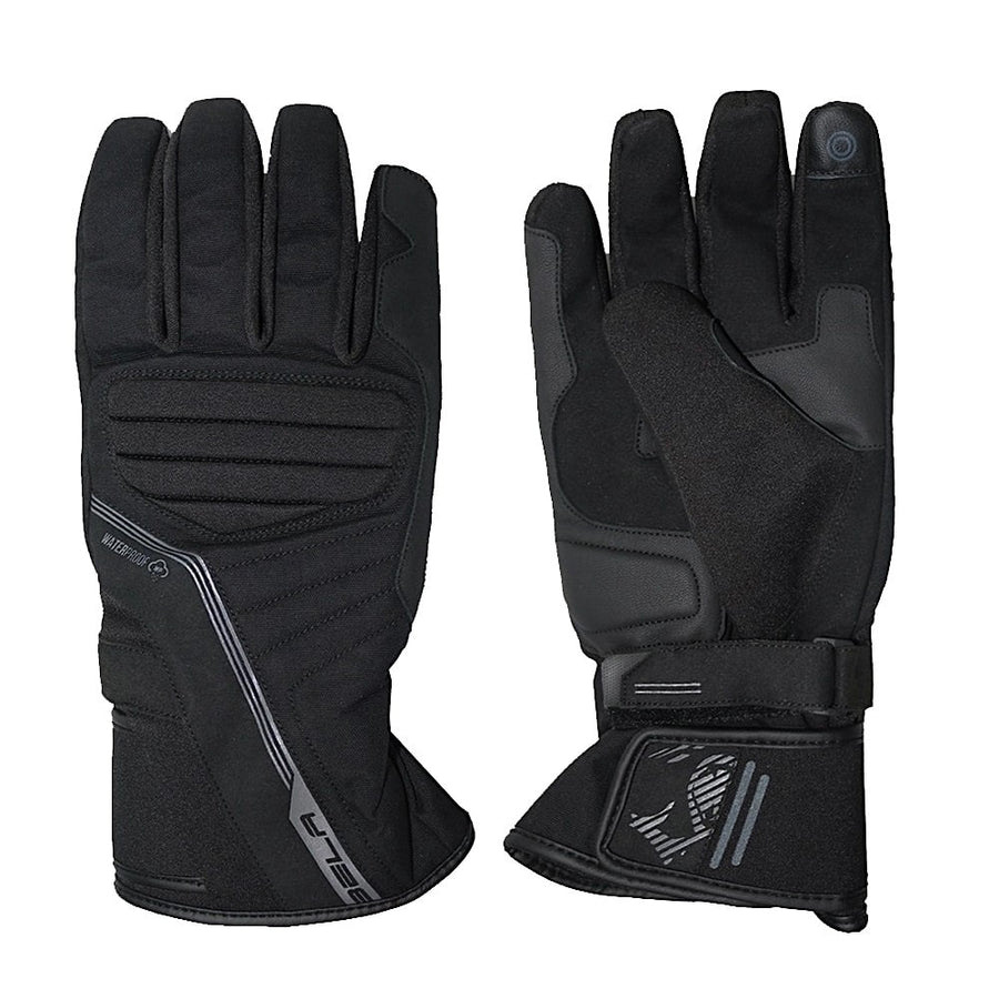 Bela Climate Mens Motorcycle Winter Waterproof Multi Layer Textile Gloves - Touch Screen Compatible - DublinLeather