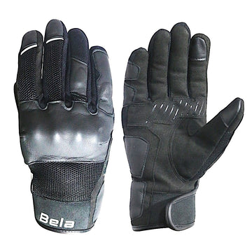 Bela Deluxe Black Leather Touring Gloves - Touchscreen Compatible - DublinLeather