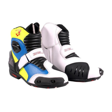Bela-Faster-White-Blue-Fluro-Leather-Motorcycle-Racing-Short-Boots-Sale-Online-Dublin-Ireland-UK-France