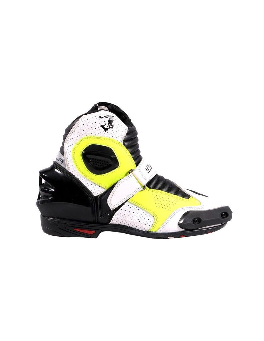 Bela-Faster-White-Fluro-Leather-Motorcycle-Racing-Short-Boots-Sale-Online-Dublin-Ireland-UK-France