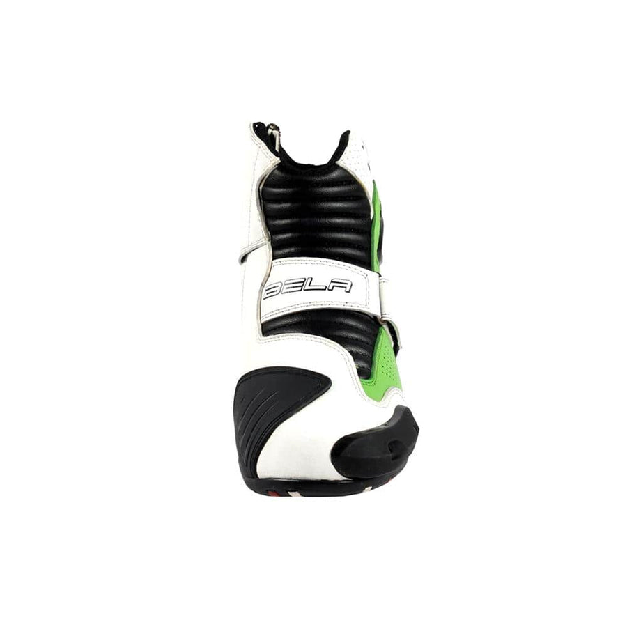 Bela-Faster-White-Green-Leather-Motorcycle-Racing-Short-Boots-Sale-Online-Dublin-Ireland-UK-France