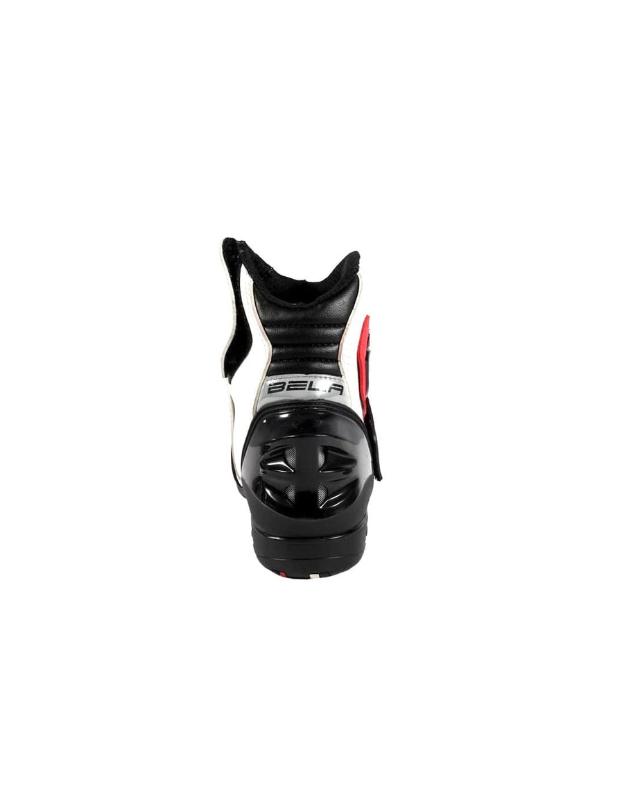 Bela-Faster-White-Red-Leather-Motorcycle-Racing-Short-Boots-Sale-Online-Dublin-Ireland-UK-France