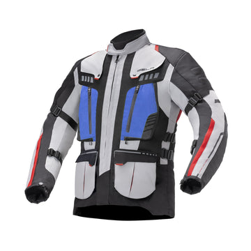 Bela Hailstorm Ice/Black/Blue Motorcycle Waterproof Textile Jacket - DublinLeather
