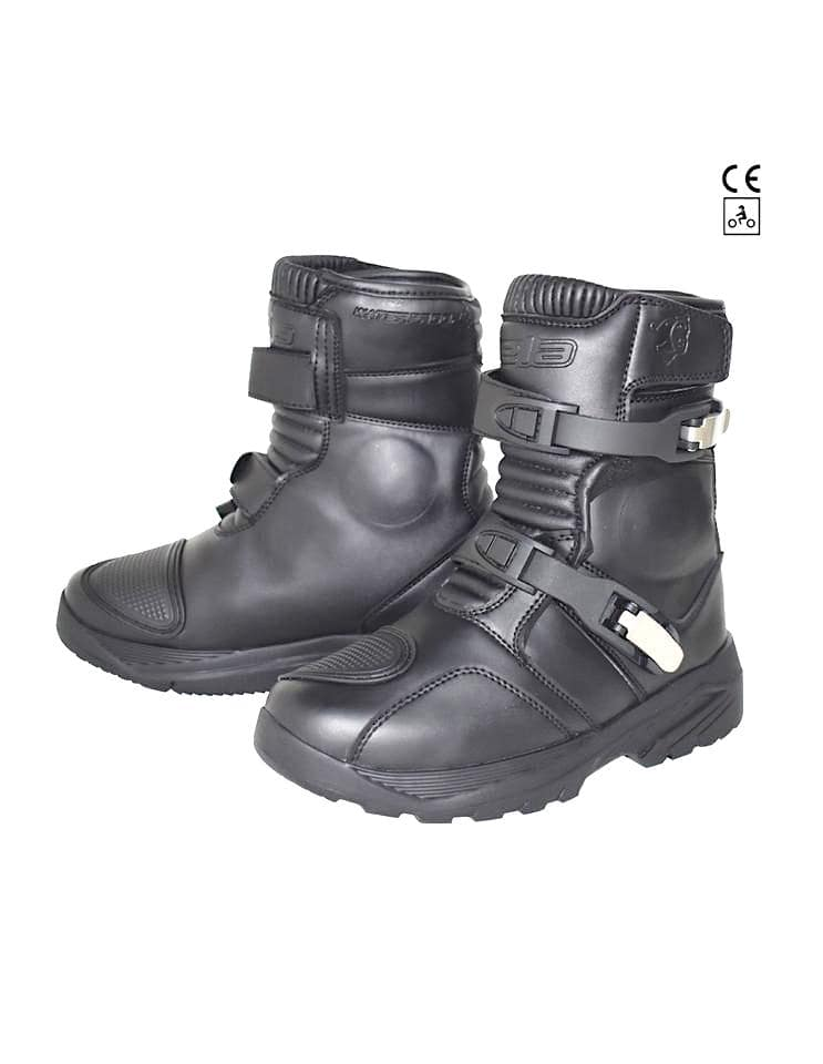 Bela J Waterproof Motorcycle Trail/Touring Leather Boots - Black - DublinLeather