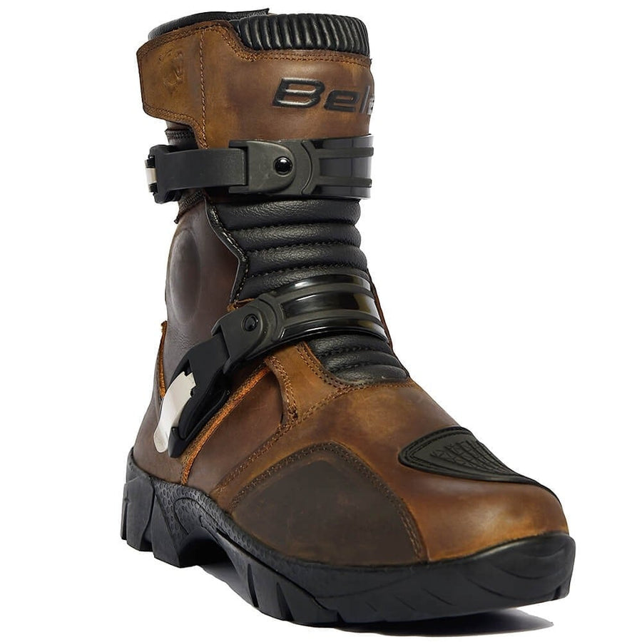 Bela J Waterproof Motorcycle Touring Leather Boots - Brown - DublinLeather