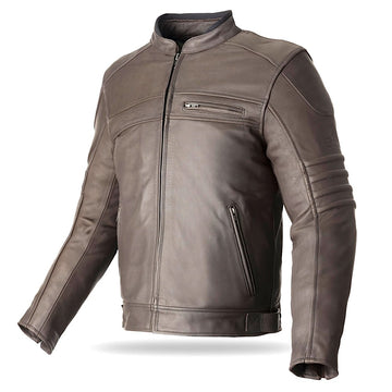 Bela Marlon Bikers Leather Jacket - Brown - DublinLeather