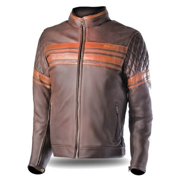 Bela Merlin Bikers Leather Jacket - Brown - DublinLeather