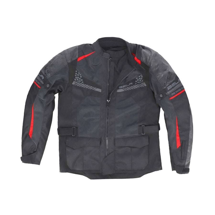 Bela Onsaker Motorcycle Adventure Touring Waterproof Textile Jacket - Black