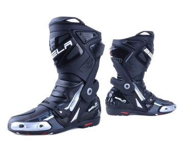 Bela Race Pro Motorcycle Racing Boots - Black - DublinLeather