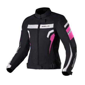 Bela Rebel Lady Rider Textile Jacket - Black/Gun Metal/Grey/Fuchsia - DublinLeather